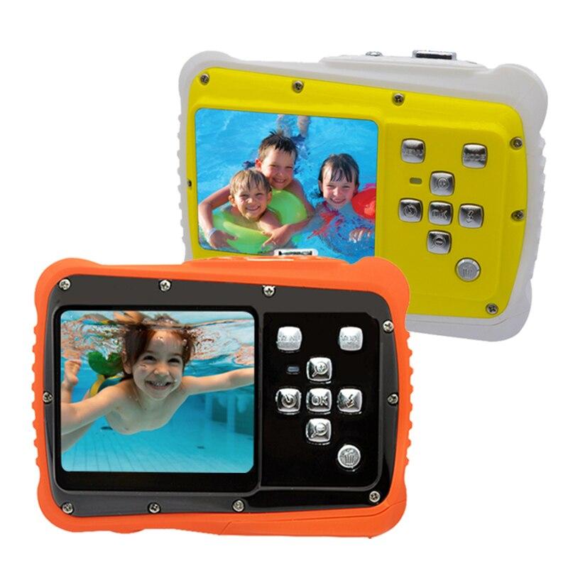 HD LCD écran Mini bande dessinée enfants caméra enfants cadeau sous-marin Photo Super étanche Anti choc appareil Photo numérique pour la natation