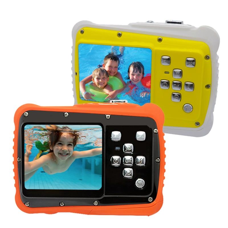 HD LCD Screen Mini Cartoon Children's  Camera Kids Gift Underwater Photo Super Waterproof Anti Shock Digital Camera for Swimming