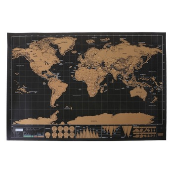 Deluxe Scratch Off Journal World Map Personalized Travel Poster Custom Decor Hot Maps