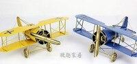 BIg size Creative Vintage Metal Plane Model Iron Aircraft Glider Biplane Aeromodelo Pendant Airplane Model children kid toys