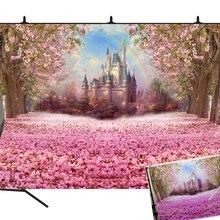 BEIPOTO розовый кастальный принцесса фон для фотостудии Фотофон, ребенок душ день рождения декоративная растяжка