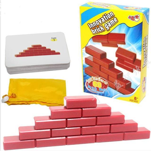 Подарок для детей качество IQ 3D логические кирпич головоломки игры игрушки для детей с 60 разум вызов карты