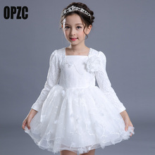 White Christening Princess Girl New Tutu Dresses Children Clothing Birthday Party 6 7 8 12 White Wedding Kids Dress Girls Clothe