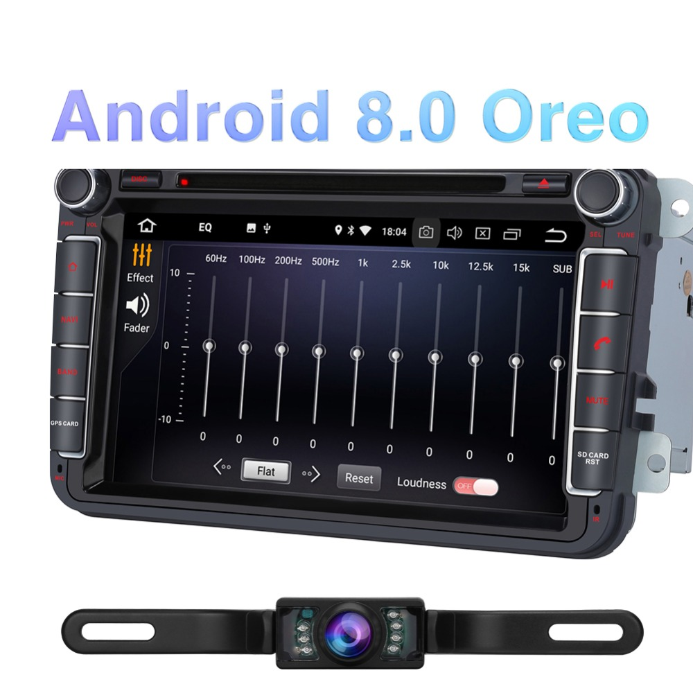 Pumpkin 2 Din 8'' Android 8.0 Car DVD Player GPS Navigation Octa Core 4GB RAM Car Stereo For VW/Skoda/Seat/Golf Car Audio Stereo