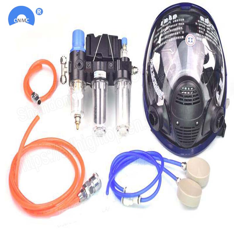 Chemcial Function Supplied Air Fed Painting Spraying Respirator System With Industry Full Face Facepiece RespiratorChemcial Function Supplied Air Fed Painting Spraying Respirator System With Industry Full Face Facepiece Respirator