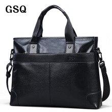 Gsq bolso de los hombres bolsos de mano bolsos de cuero real genuino de cuero cartera del negocio de los hombres de cuero de vaca bolsa de mensajero g168-1