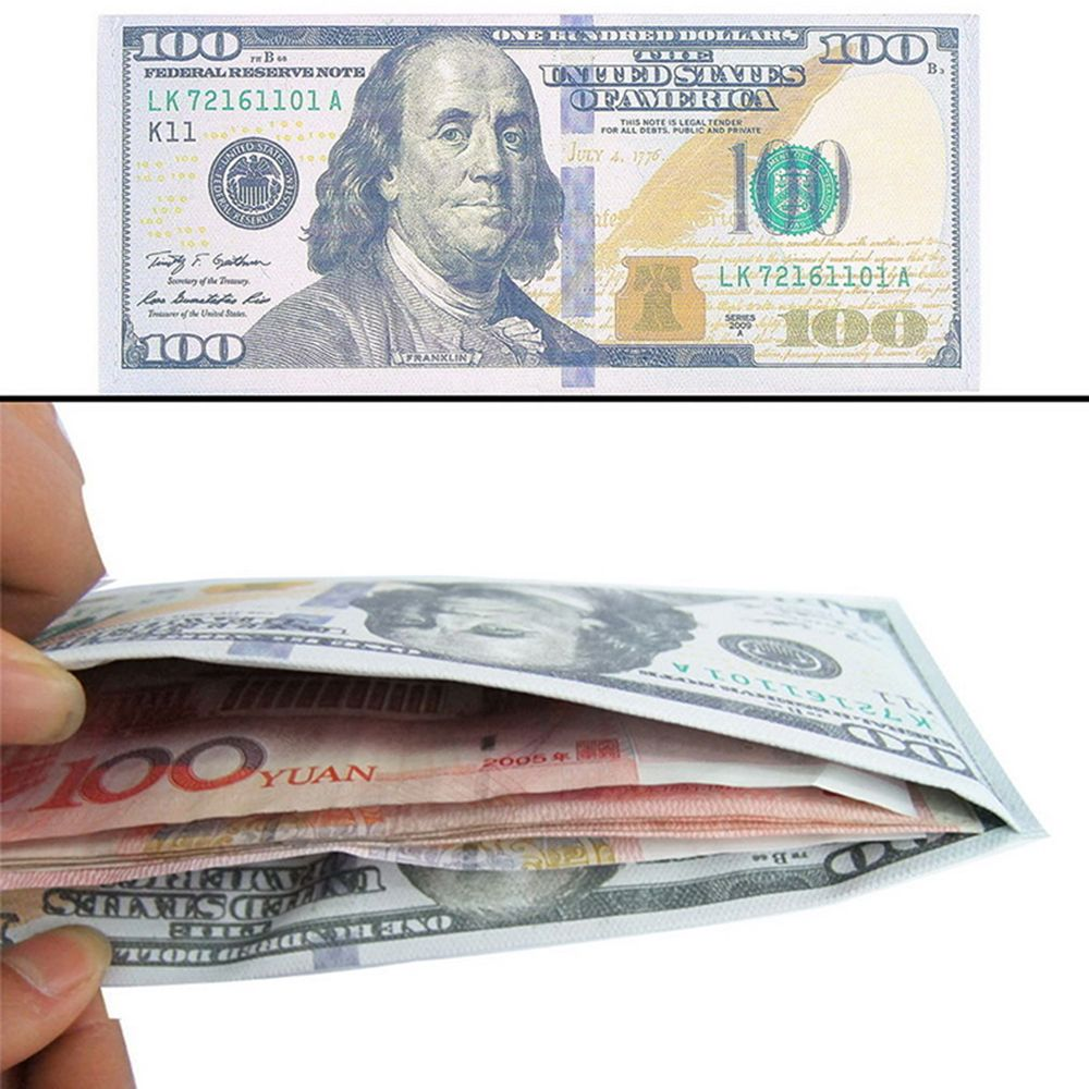Erkekler kadınlar para klipleri para birimi notları desen Pound dolar Euro çanta cüzdan Unisex moda cüzdan katı nakit tutucu