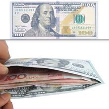 Clip para dinero Unisex, cartera a la moda, con patrón de notas de moneda, monedero de dólares, monedero, unicolor