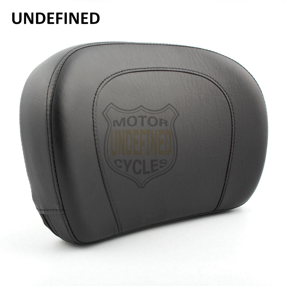 UNDEFINED Motorcycle Seat Stitch Passenger Backrest Pad for Harley Touring Electra Glide Street Road Glide Classic Low 1997-2018 motorcycle black universal leather passenger seat backrest pillion cushion pad for harley choppers touring cruiser honda c 5