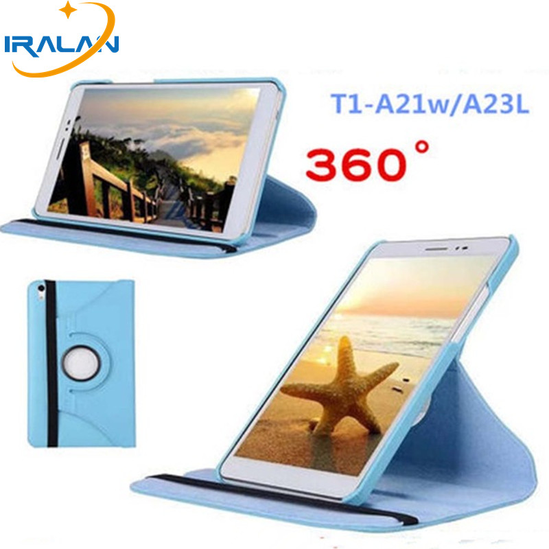 Hot 360 Rotating Folio Stand Leather Case Cover For Huawei Mediapad T1 10 T1-A21W T1-A23L 9.6 inch Tablet PC Skin Shell+stylus pavone фигурка кошечка