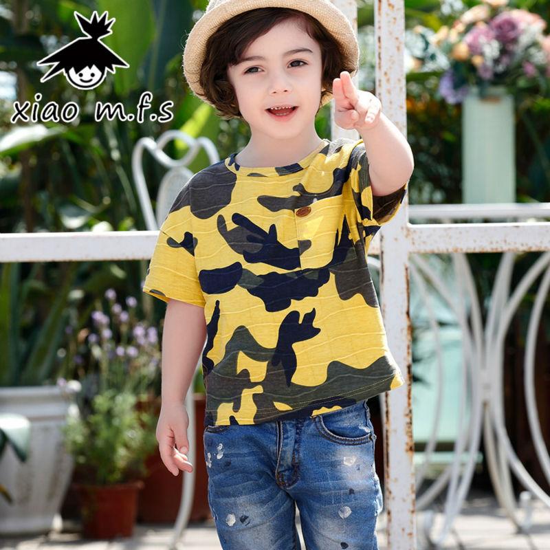 2017 ljeto majica za dječake tops dječja odjeća kamuflaža Camo - Dječja odjeća - Foto 4