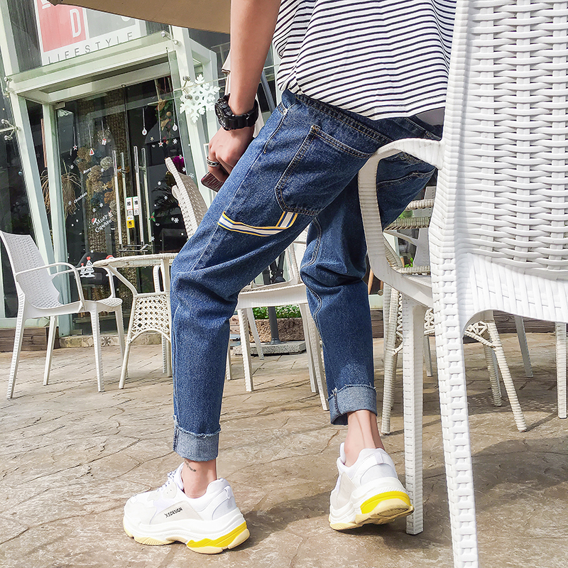 Hot New Fashion Literature Schoolboy mens warm calca cheap Jeans china masculina