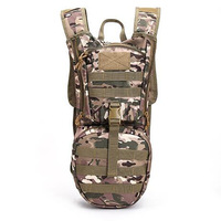 3L Outdoor Backpack Molle Military Tactical Hydration Pouch Cycling Water Bag Camping Camelback Hiking Nylon Camel