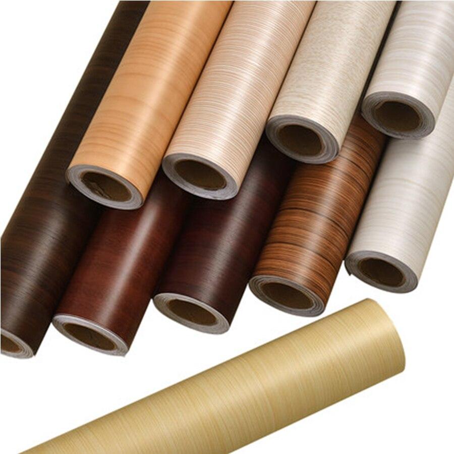 PVC Vinyl Wood Grain Contact Paper for Kitchen Cabinets Shelf Liner Wardrobe Door Stickers Waterproof Self adhesive Wallpaper