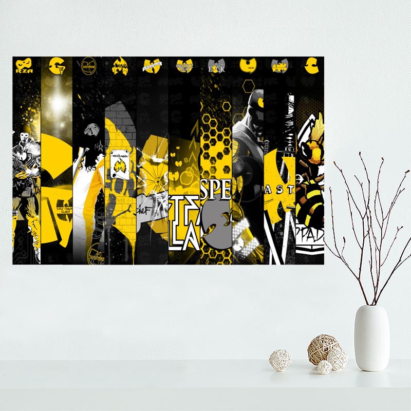 Custom wu tang Canvas Painting Poster Cloth Silk Fabric Wall Art ...