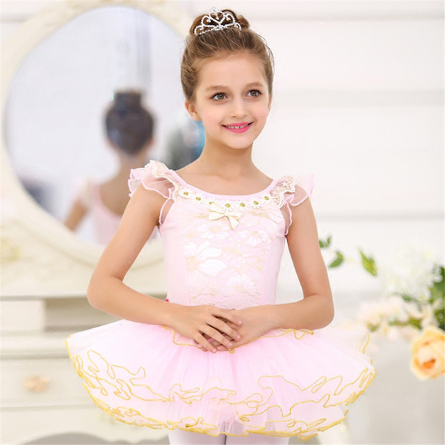 Girls Classic Ballet Tutu Skirt Dress New Kids Children Lace Customized Dancewear Dresses For Girl Dance