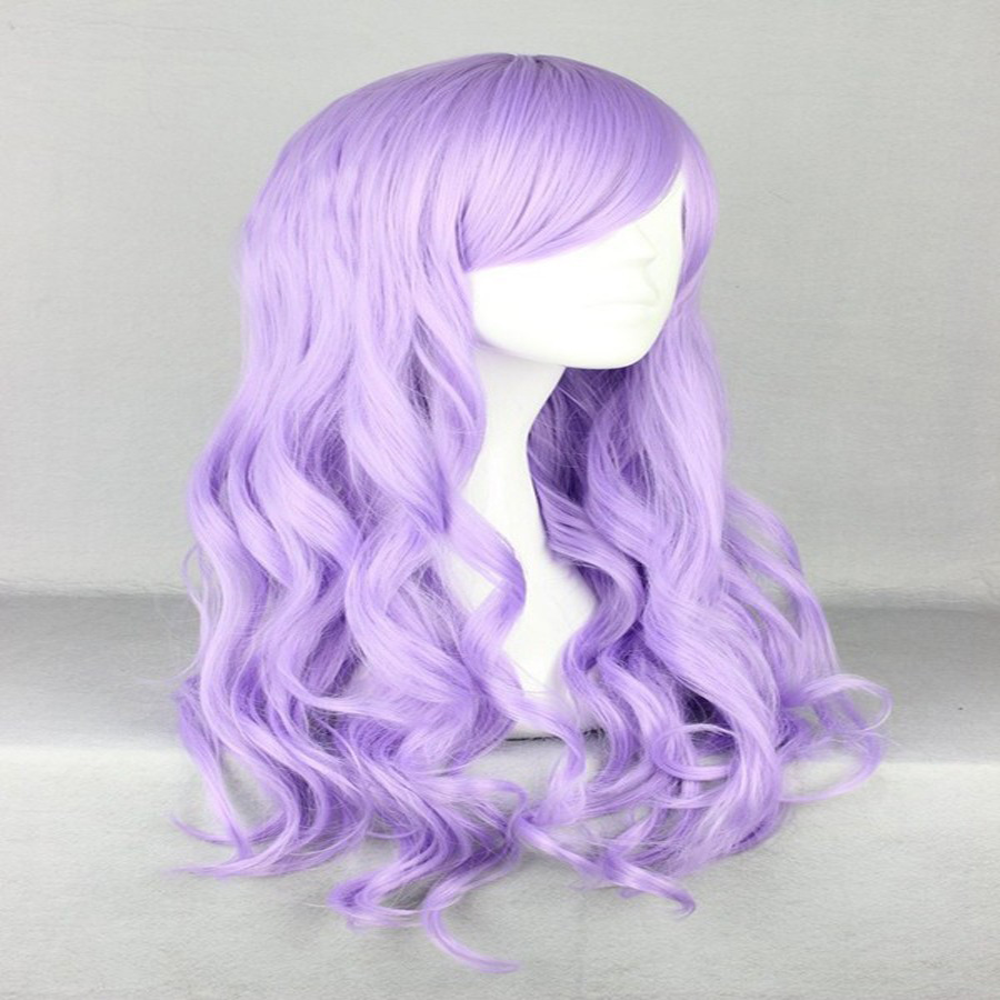 HAIRJOY Synthetic Hair Zipper 70cm Long Wavy Harajuku Lolita Cosplay Wig 18 Colors Available 85