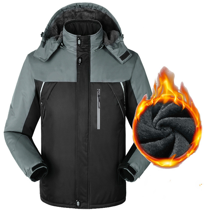 Man Waterproof New 3 in 1 Jackets Fishing Winter Windproof Outdoor Skiing Hoodie Camping Trekking Hiking Travel 5XL Oversized cnuon 3 5xl