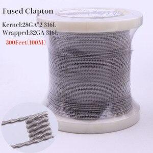 Image 3 - XFKM 316L 100m(300Feet)/Rulo Alien sigortalı Clapton kaplan tel elektronik sigara rda ısıtma bobini direnci DIY Atomizer