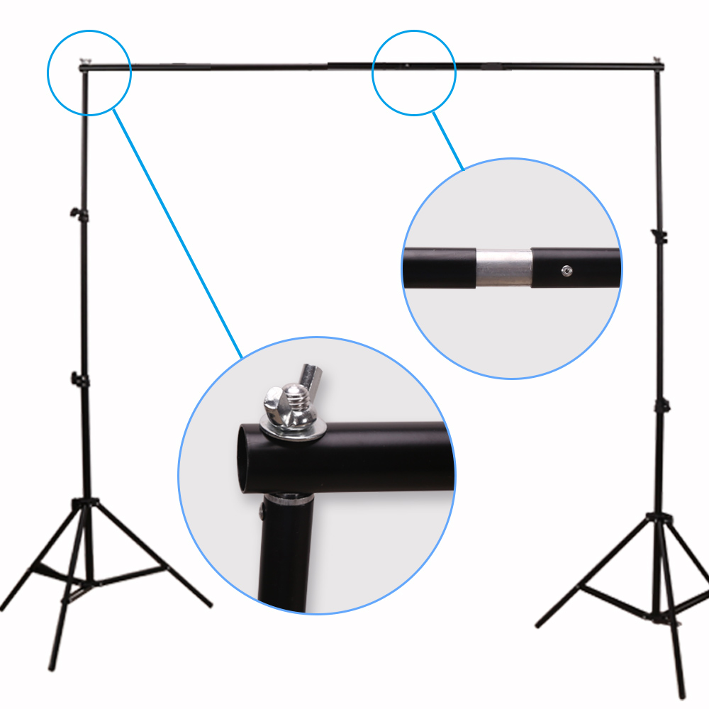 GSKAIWEN Backdrops Frame Background Support System Photography Studio Background Holder Camera Photo Accessories with Carry Bag 7
