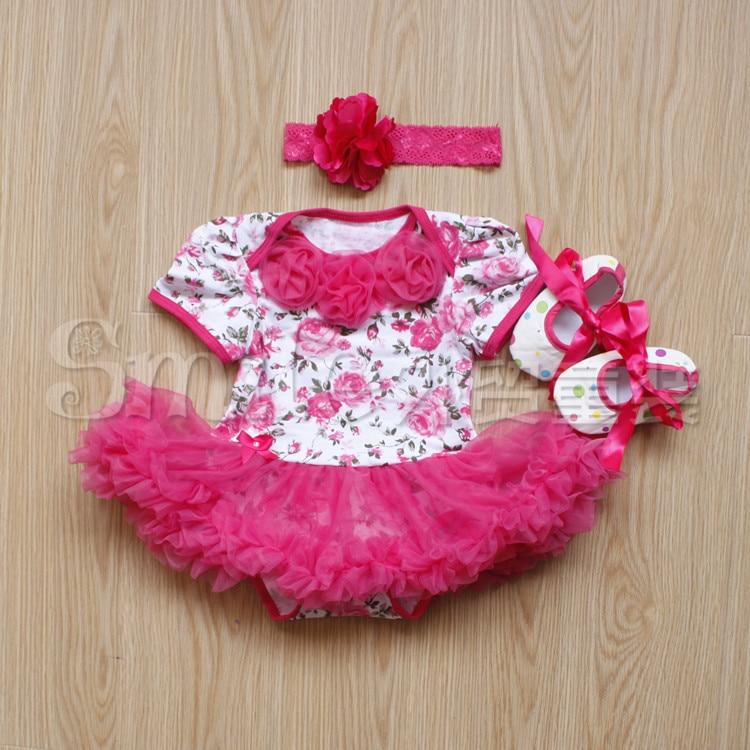 Kids Cute Newborn Dress Bonnie Cheap Baby Party Girl White