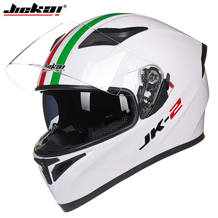 2016 Winter JIEKAI Double lens motorcycle helmet JK-316 Motocross full face motorbike helmets made of ABS Size M L XL XXL 2017 new knight protection gxt flip up motorcycle helmet g902 undrape face motorbike helmets made of abs and anti fogging lens