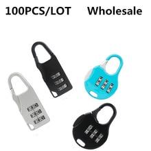 купить 100PCS Colorful Password Lock Zinc Alloy Security Lock Suitcase Luggage Coded Lock Cupboard Cabinet Locker Padlock дешево