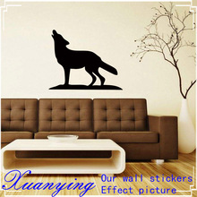 2018 Hot Personality Style Heulender Wolf Wandtattoo KIWISTAR Wall Sticker  Vinyl Graphics Decals DIY(China