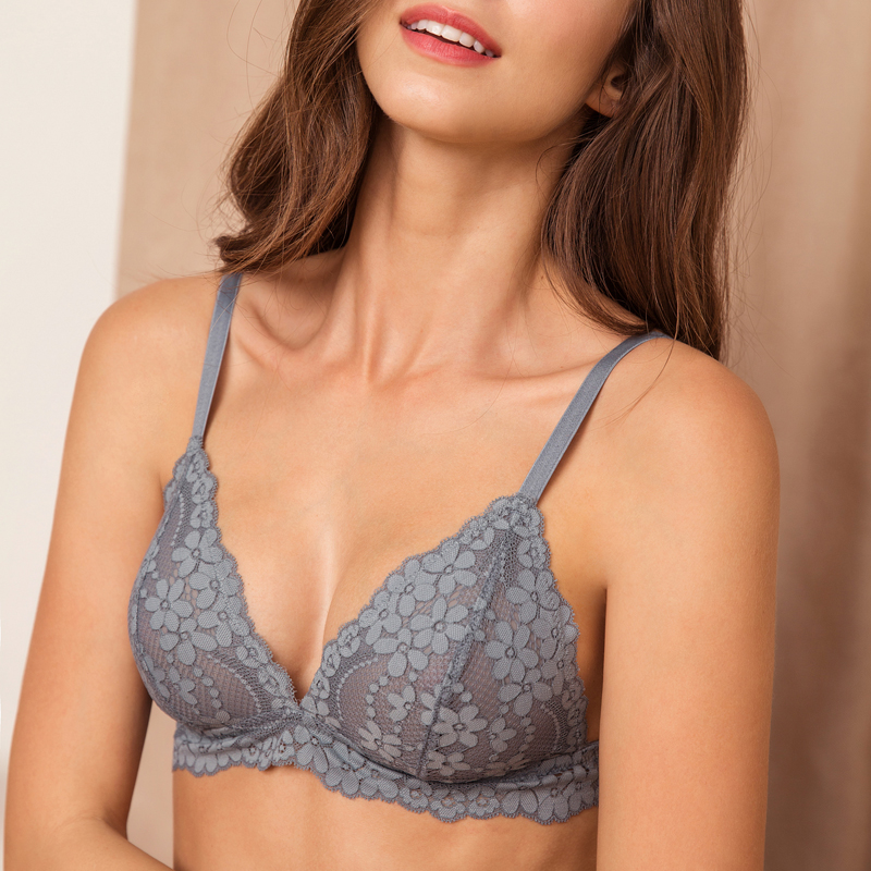 TERMEZY Sexy Floral Lace Cami Lingerie   Set   thin breathable women underwear   sets   Ladies Sexy   Bra   And   Brief     Sets   Wireless   Bra     Set