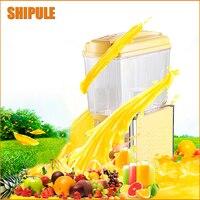 SHIPULE Commercial Machine 15L 1Tank Ice Slush Machine Snow Melting Machine Cold Drink Dispenser Smoothies Granita