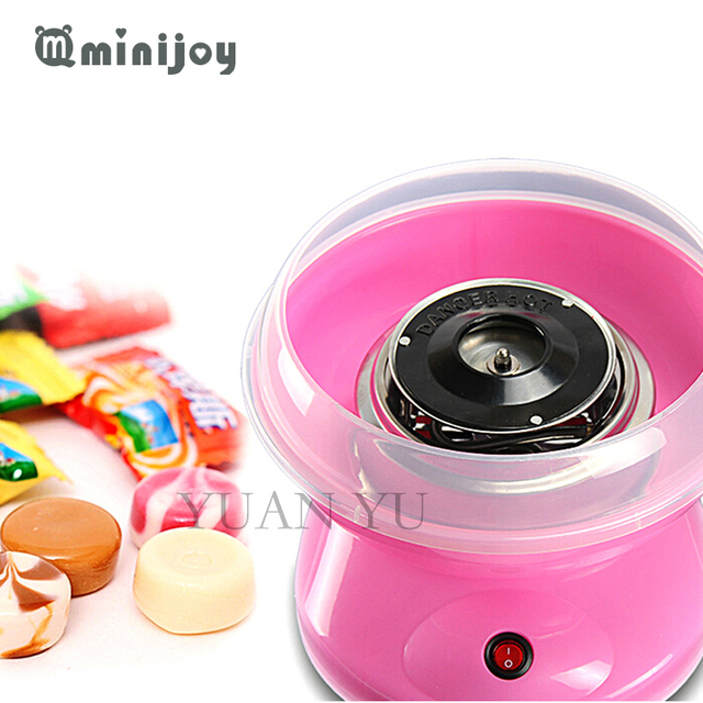 2017 mini portable Electric DIY Sweet cotton candy maker cotton candy sugar machine for children girl boy gift 500w