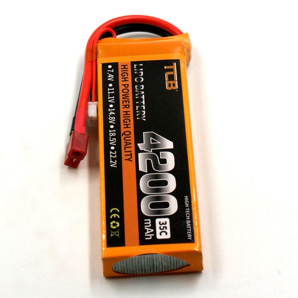 TCB लाइपो बैटरी 7.4v 4200mAh 35C Max 70C 2s RC - रिमोट कंट्रोल के साथ खिलौने