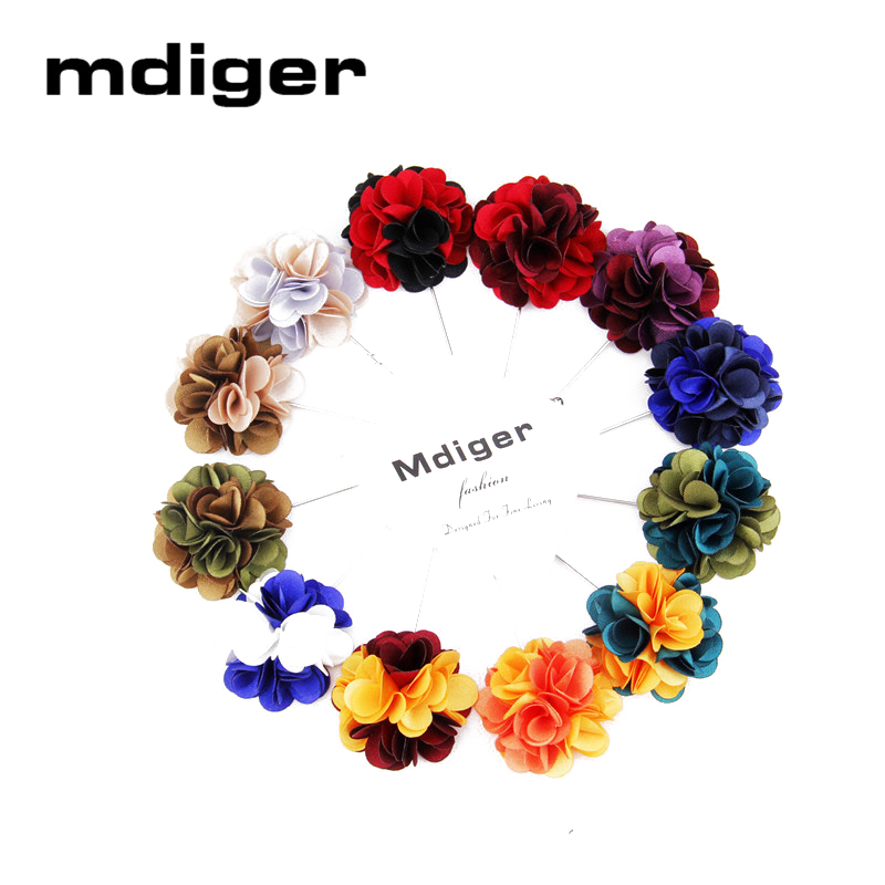 Tuxedo Lapel Pin Flower Brooches for Men Fashion Lapel Pin Bouquet Brooch Wedding Bridegroom Suits Brooch 12 PCS/LOT