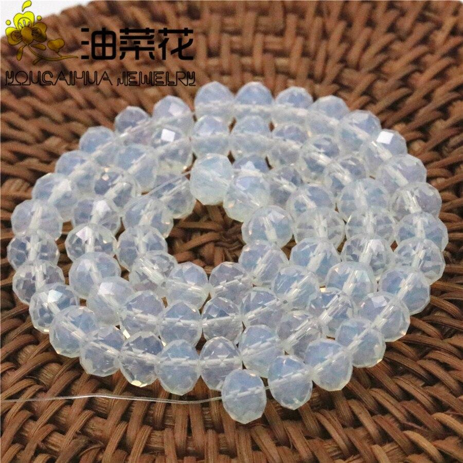"""5x8mm Sri Lanka Moonstone Abacus Gemstone Loose Beads 15/""""AAA"""