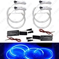 4 Pçs/set Azul Anéis de Halo CCFL Angel Eyes Faróis de LED Do Carro para BMW E46, E36, E39, E318A04 Kits de luz # FD-4170