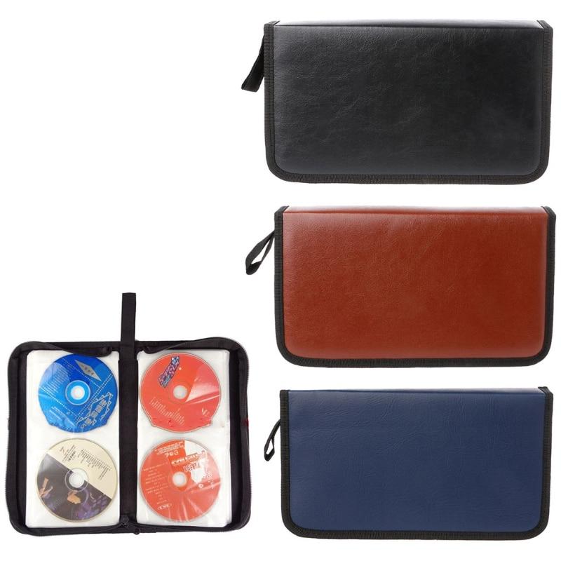 80 Sleeve Faux Leather Disc Storage Bag CD Holder DVD Case VCD Organizer Handbag-M35