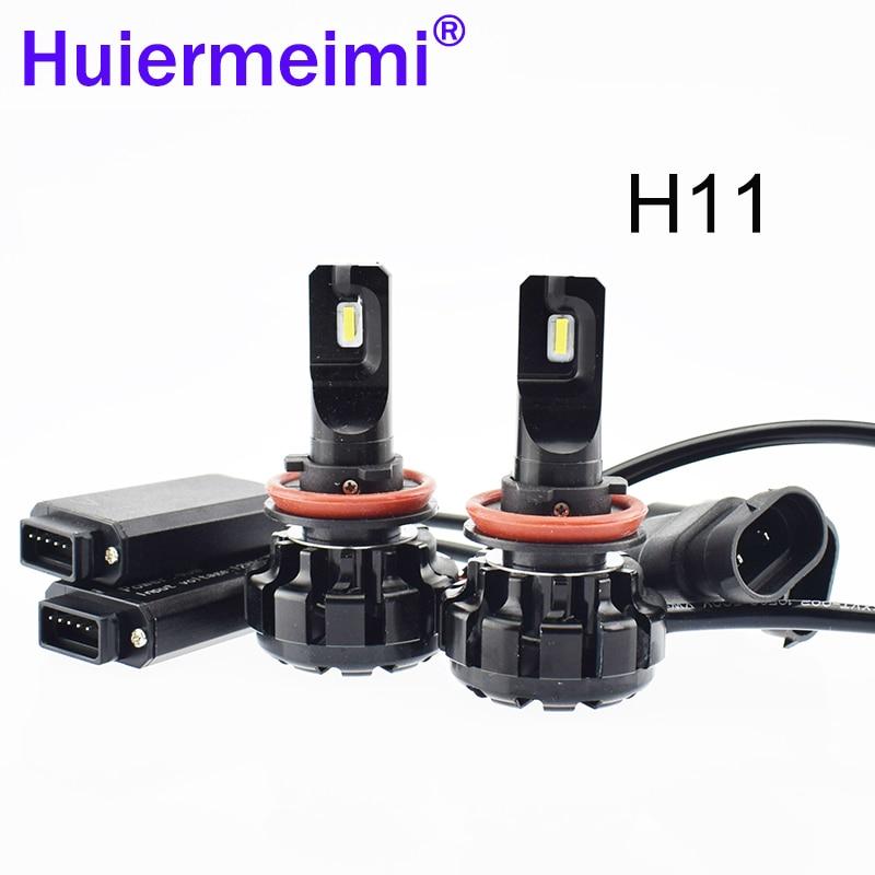 Car LED Headlight Bulb Kit 12V 6500K 80W H4 H7 H11 Automobile Headlamp Exterior Lighting Hi/Lo Beam CSP LED Auto SUV Head Light