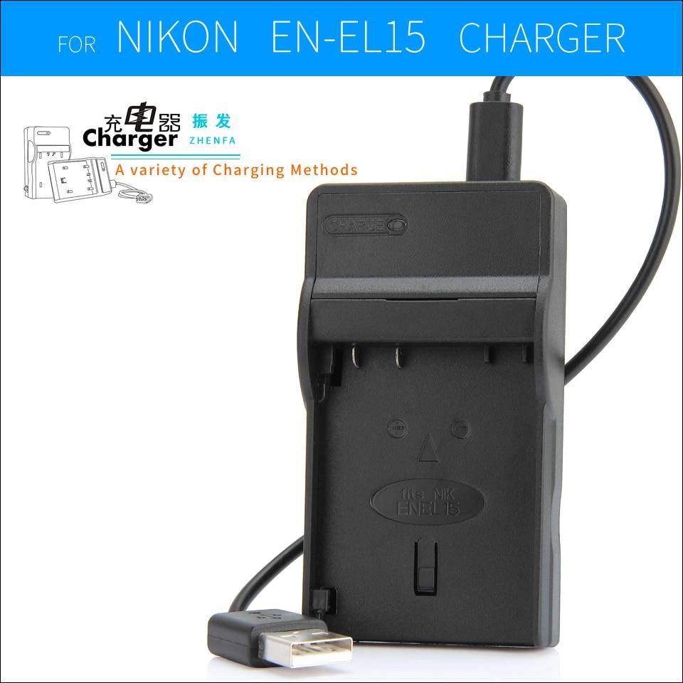EN-EL15 EN EL15 Battery Charger MH-25 MH25 For Nikon Cameras 1 V1 D750 D800E D7000 D7100 D7200 D8000 D600 D800 D810 D610
