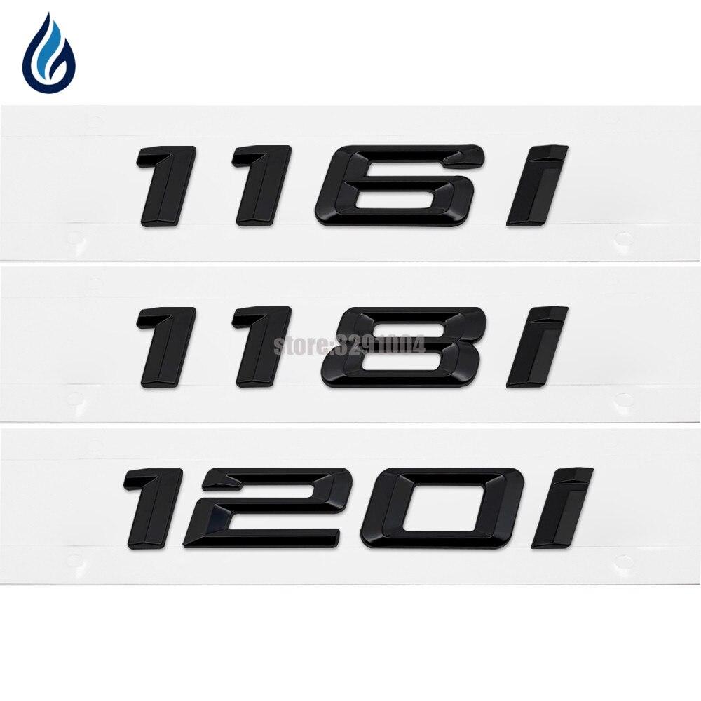 116i 128i 135i Chrome Emblem Badge Decal Number Letter Stickers For BMW 1 Series F20 F21 E87 E81 E82 E87 E88 Car Styling car styling trunk lid rear emblem badge chrome letters sticker 125i 128i 130i 135i for bmw 1 series f20 f21 e81 e82 e87 e88