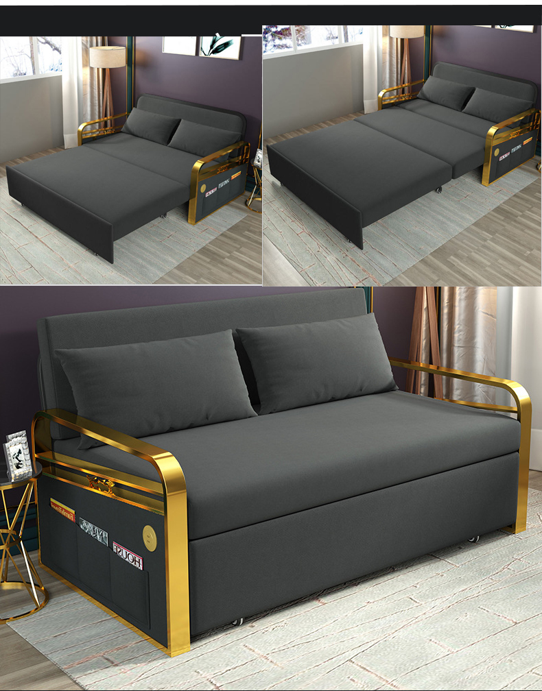 Sofa-Set Couch Puff Fabric Living-Room Alon Canape Hemp Linen Asiento Frame Cama Muebles-De-Sala