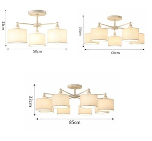 Image 5 - LED ceiling Chandelier For Living Room E27 Chandelier Lighting With Lampshades Dining  Chandeliers Modern Kitchen Lamps lights