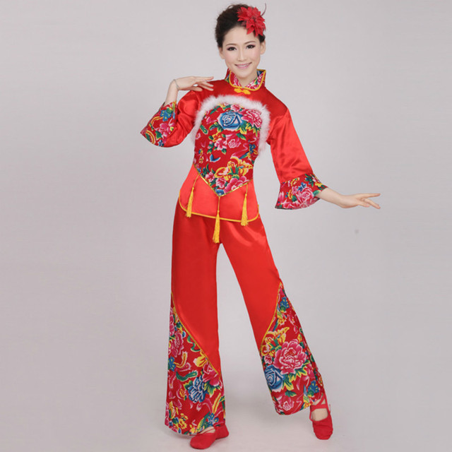 25911e7fb1b6 traditional chinese folk dance costume for woman national costumes ...