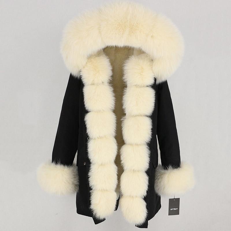 OFTBUY Waterproof Long Parka Winter Jacket Women Real Fur Coat Natural Fox Fur Collar Hood Thick Warm Streetwear Detachable New 97