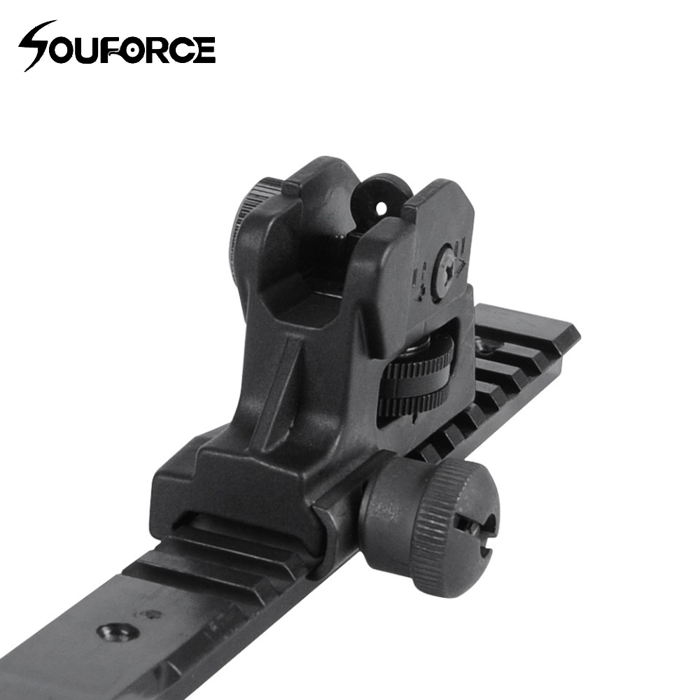 New Detachable Dual Apertures A2 Rear Sight BUIS Fits 20mm Mount All Flat Tops Of Hunting Gun Rifle Sight Accessories