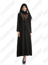 Muslim Abaya Kaftan Dress Islamic Clothing for Women Abaya Fashion Plus Size Arab Dubai Kaftan Dress  A13FP2A6015 -2
