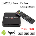 Kodi Totalmente Cargado DMYCO-BOX Android 5.1 Smart TV Caja Amlogic S905 2 GB 16 GB Quad-core Media Player Set Top Box igual que H96 Plus