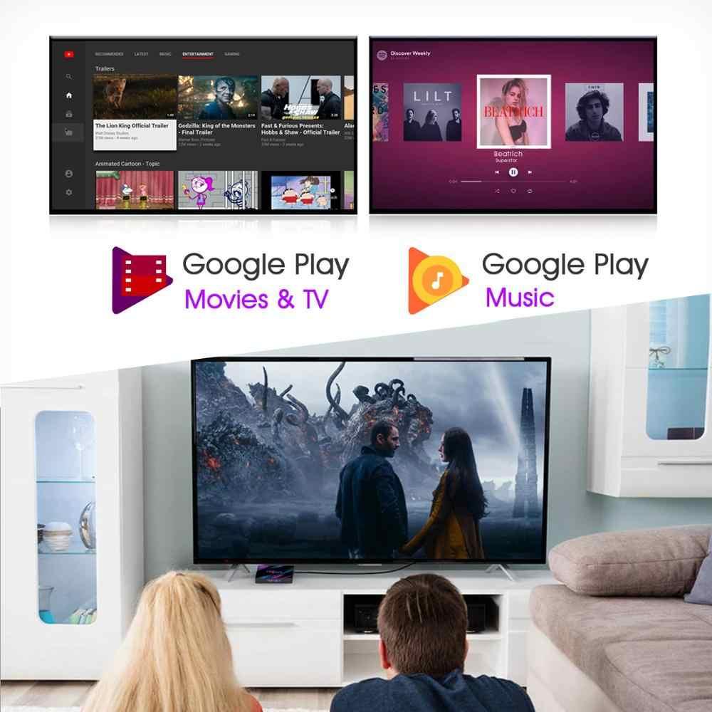 Crenova h96max android 9.0 caixa de tv em rockchip rk3318 4 gb ram 64 gb rom h.265 4 k 60fps google store jogador netflix youtube