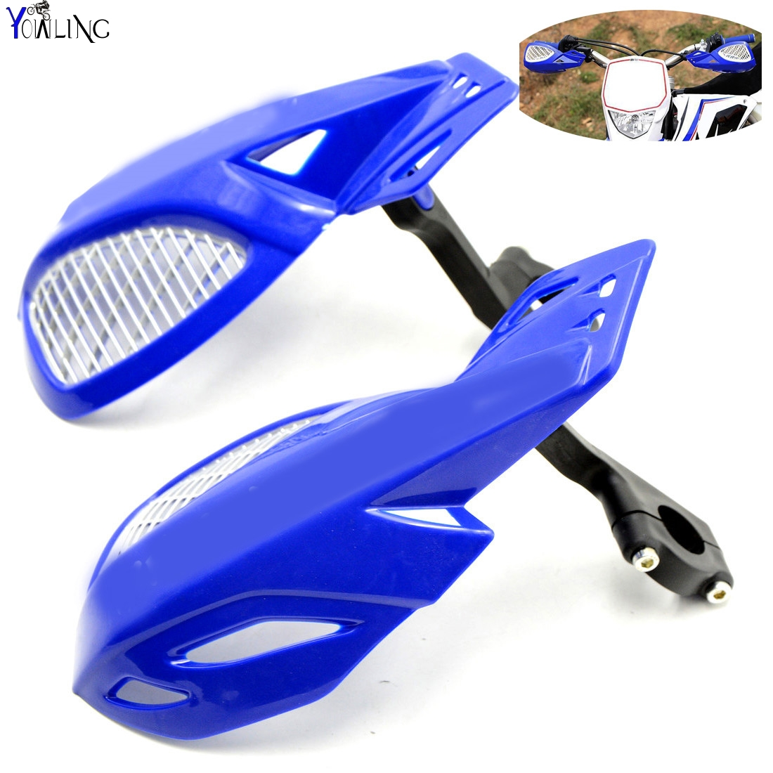 Dirt bike Motorcycle 7/8''22mm handlebar brake hand guard For YAMAHA YZ WR SEROW TTR XT 250F 426F 450F 250X 250FX dirt bike motorcycle 7 8 22mm handlebar brake hand guard for yamaha yz250x yz426f yz450f yz450fx yz80 yz85