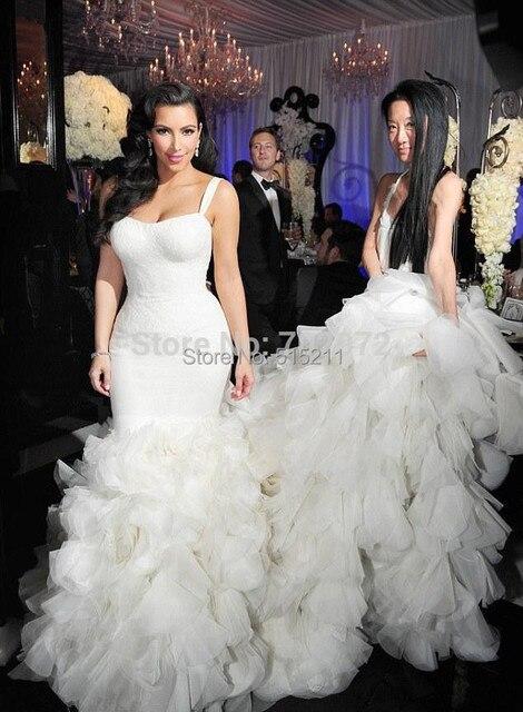 Us 229 0 Romantische Zeemeermin Trouwjurk Rembours Lange Ruches En Kant Jurken Voor Bruid 2017 Pure Witte Bruidsjurk Hot Ontwerp In Romantische
