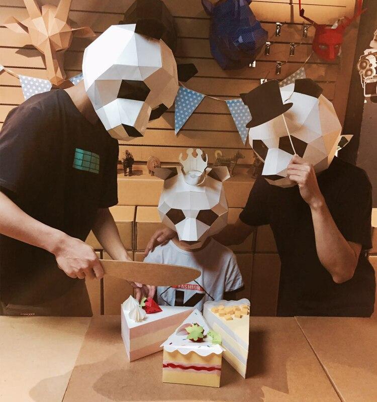 Diy Cardboard Masks: Creative Cardboard Handwork Panda Halloween Mask Paper